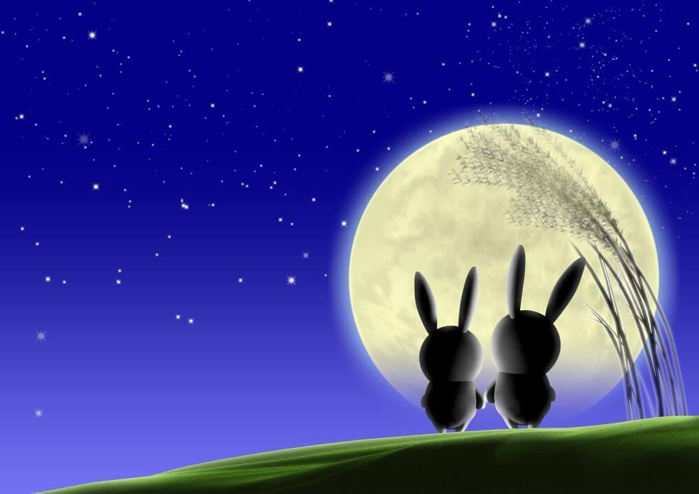 お月様 お月見 うさぎ